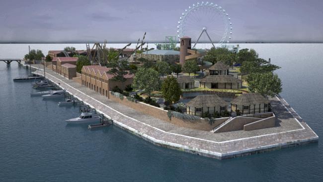 Látványterv a vidámparkról (Fotó: http://www.couriermail.com.au/AP)