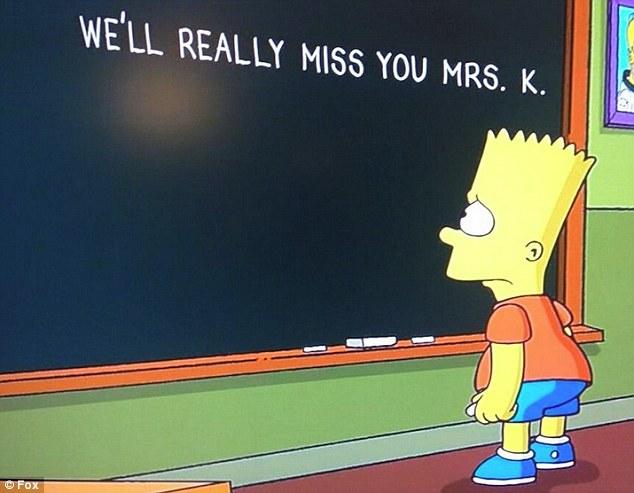Hiányozni fogsz Mrs. K. (Fotó: Fox/Daily Mail)