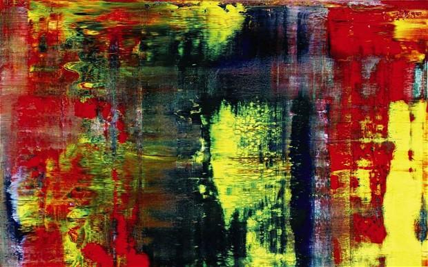 Gerhard Richter: Abstrakes Bild  (fotó: telegraph.co.uk)