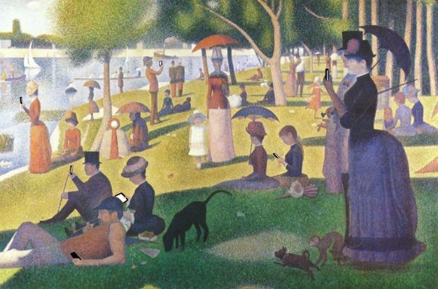 George Seurat: Vasárnap délután a Grande Jatte szigetén