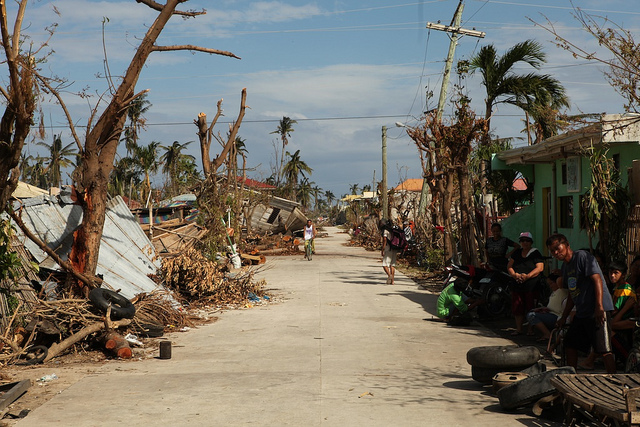 Pusztítás a Fülöp-szigeteken (Fotó: Simon Clarke)