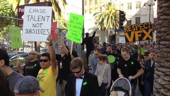 A speciális effekt tervezők tüntetése a 2013-as Oscar átadón (Fotó: icito.com)