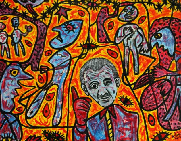 Aczél György Dubuffet műtermében figyelmeztet