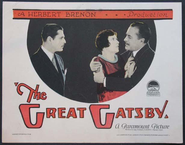 A nagy Gatsby 1926-os plakátja