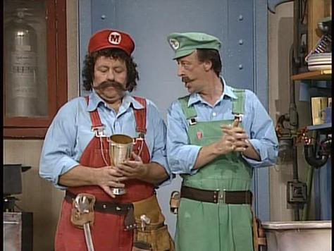Lou Albano és Danny Wells a Super Marioban