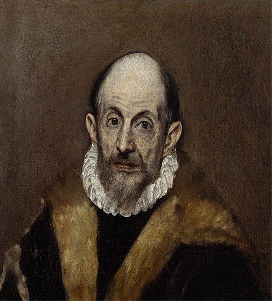 El Greco: Portré (valószínűsíthetően El Greco önarcképe)