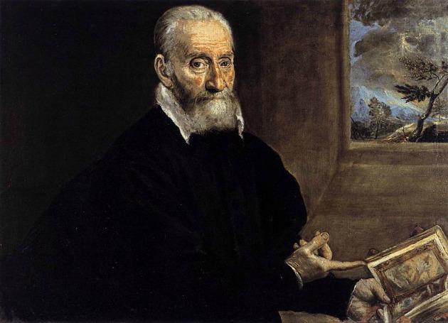 Giorgio Giulio Clovio portréja (az első fennmaradó portré El Grecotól)