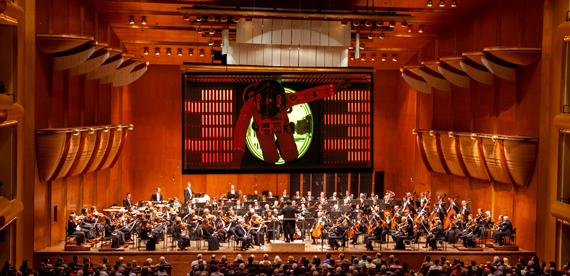 Űrodüsszeia a New York-i Filharmonikusoktól (Fotó: permanentplastichelmet.com)