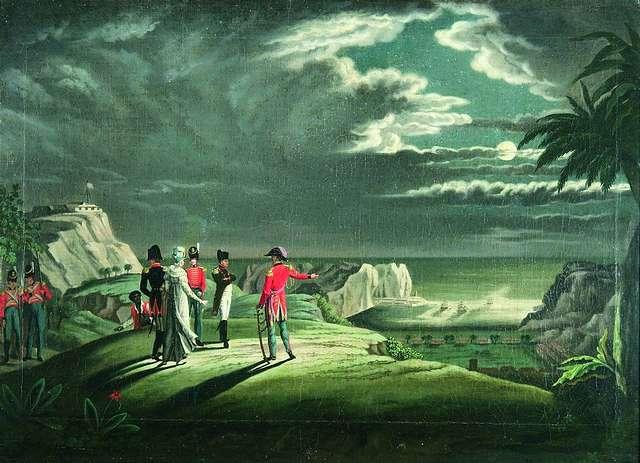 Napóleon Szent Ilona szigetén (Forrás: oafrica.com)