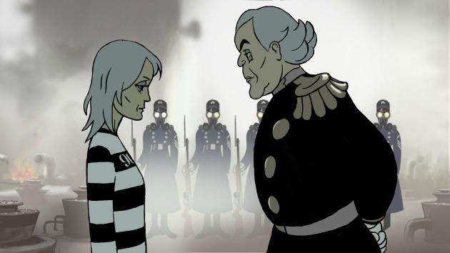 Robin Wright és Danny Huston (Jeff) animált formában