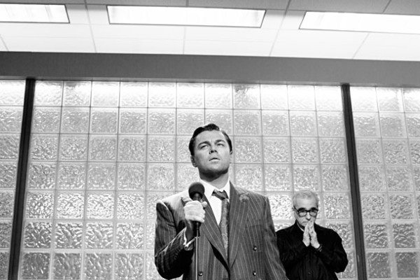 Leonardo DiCaprio és Martin Scorsese a forgatáson (Fotó: filmuniverzum.com)