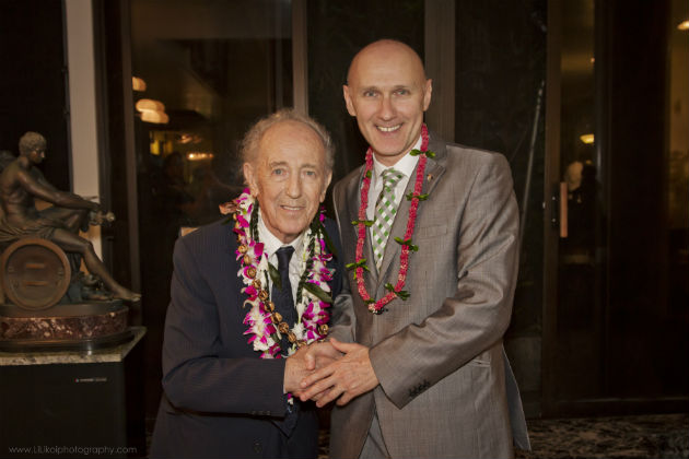 Makk Imre és Dr. László Kálmán, a Los Angeles-i főkonzul