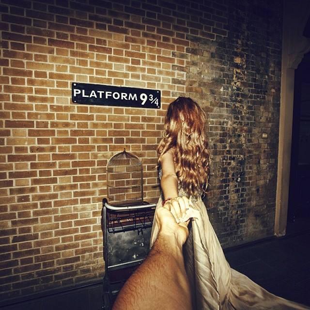 9 és 3/4-ik vágány a Kings Cross Stationnél, Londonban