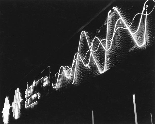 Boston, a Radio Shack üzlet portálját díszítő neonembléma, 1949–1950