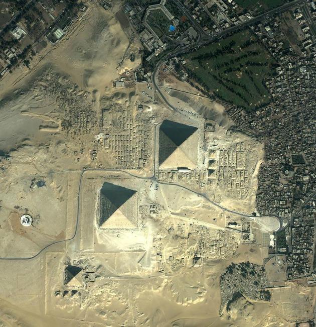 Egyiptom, Gízai piramisok (Fotó: satimagingcorp.com)