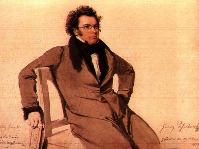 Franz Schubert (Wilhelm August Rieder festménye)