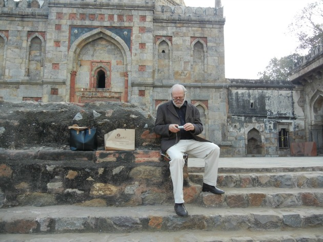 Krasznahorkai Delhiben, 2013-ban (Fotó: litera.hu)