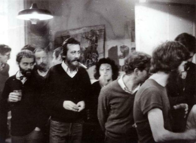 A Mozgó Világ című havilap betiltása idején rendezett egyik búcsútalálkozón Budapesten, 1983-ban (Forrás: pim.hu)