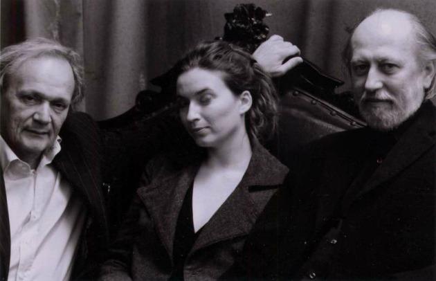 Feleségével, Dorkával és Joachim Sartoriussal, a Berliner Festspiele intendánsával Berlinben, 2007-ben (Forrás: pim.hu)