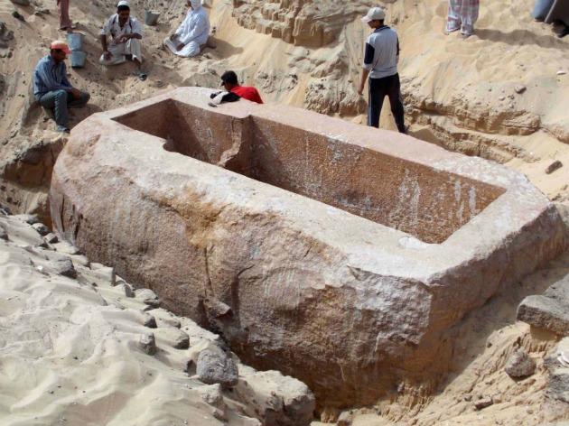 I. Szobekhotep kvarcitszarkofágja. (Fotó: Hirado.hu/AFP)