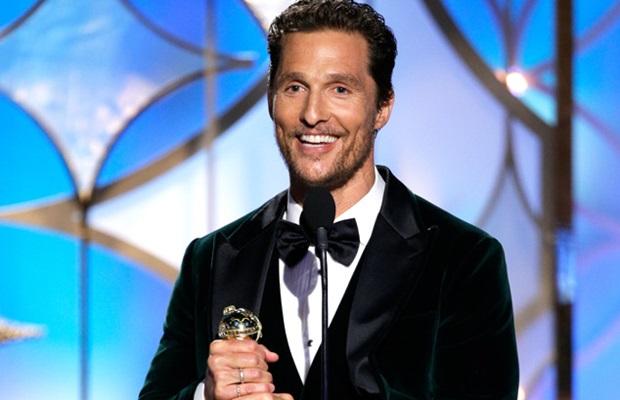 Matthew McConaughey a díjátadón