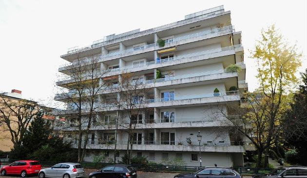 Az épület, ahol az egymilliárd euró értékű gyűjteményt megtalálták. (Fotó: http://gawker.com/)