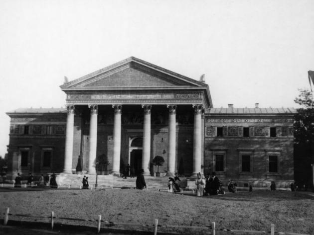 A Műcsarnok épülete 1896-ban (Fotó: mek.oszk.hu)