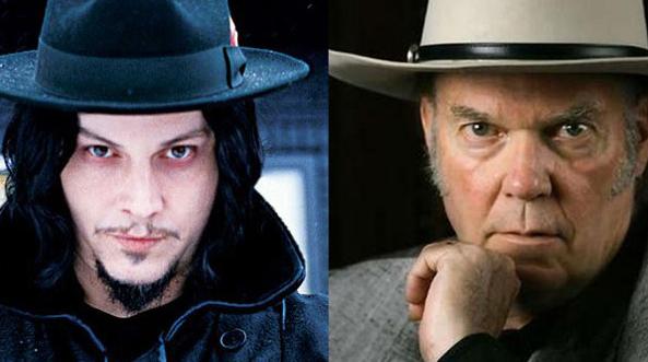 Jack White és Neil Young (Fotó: nashvillescene.com)