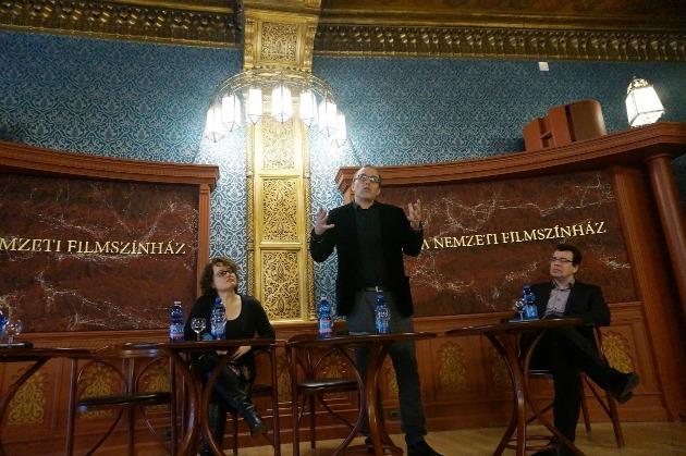 Gerencsér Anita, Can Togay János és Dr. Hatos Pál, a Balassi Intézet főigazgatója (Fotó: Jósvai Péter /altmti.hu)