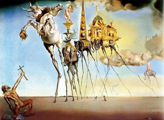Salvador Dalí: Szent Antal megkísértése (La tentación de San Antonio), 1946