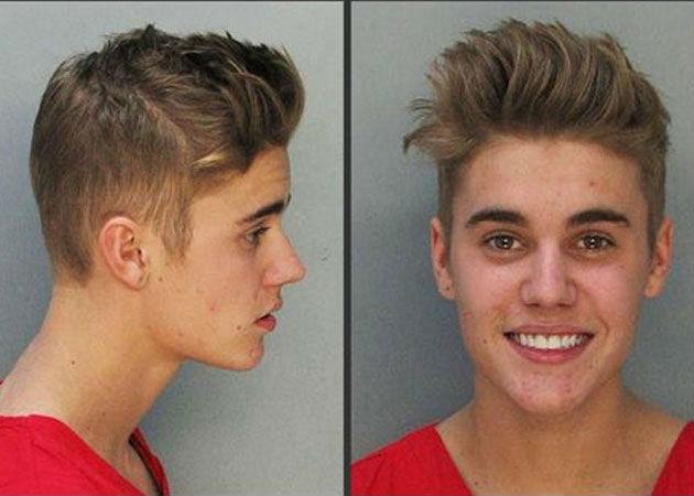 Rendőrségi fotó - Biebert néhány napja letartóztatták ittas vezetésért. (Fotó: movies.ndtv.com/AP)