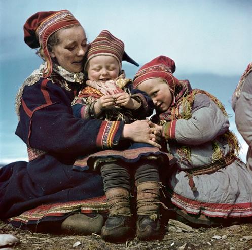 Robert Capa: Lapp család, Norvégia, 1951
