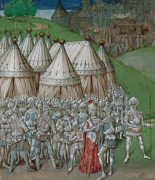 Izabella királynő és Roger Mortimer egy 14. századi metszeten (Fotó: en.wikipedia.org)