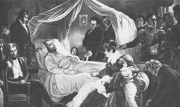 Napóleon a halálos ágyán (Fotó: napoleonguide.com)