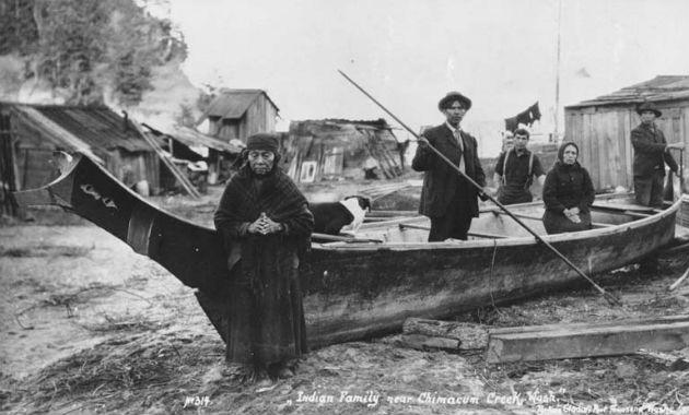 Illusztráció - klallam halász család 1914-ből (Fotó: Wikipedia)