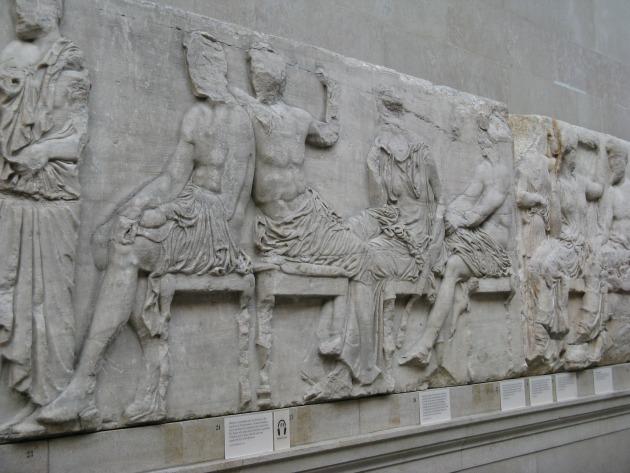 Az Elgin-márványok a British Museuban (Fotó: commons.wikimedia.org)