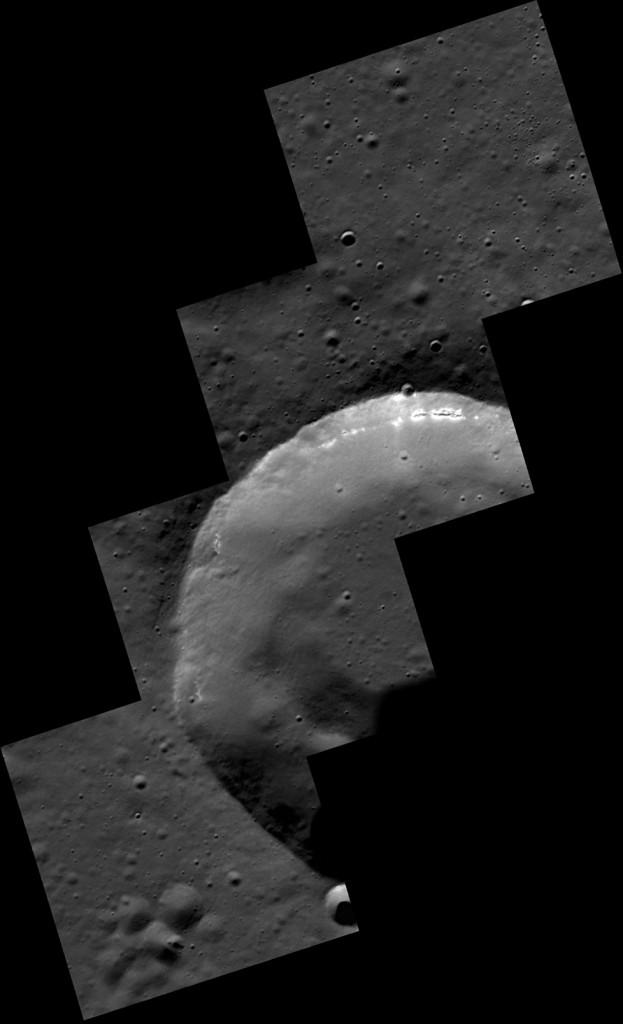 Mozaik a Merkúr-szonda képeiből. (Fotó: NASA/Johns Hopkins Egyetem Alkalmazott Fizikai Laboratórium/Washingtoni Carnegie Intézet)
