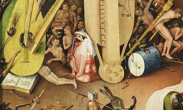A felfedezett kotta a festményen (Forrás: gizmodo.com.au)