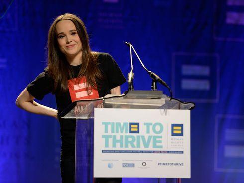 Ellen Page a Time to Thrive rendezvényen (Fotó: freep.com)