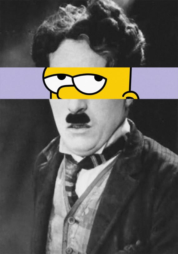 Charlie Chaplin - Bart Simpson