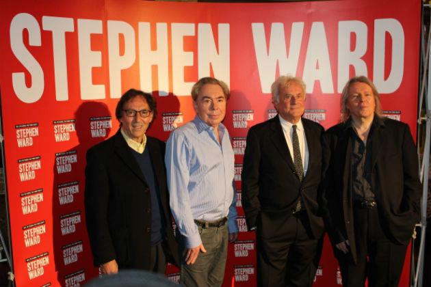Don Black, Andrew Lloyd Webber, Richard Eyre és Christopher Hampton a premieren (Fotó:www.broadwayworld.com)