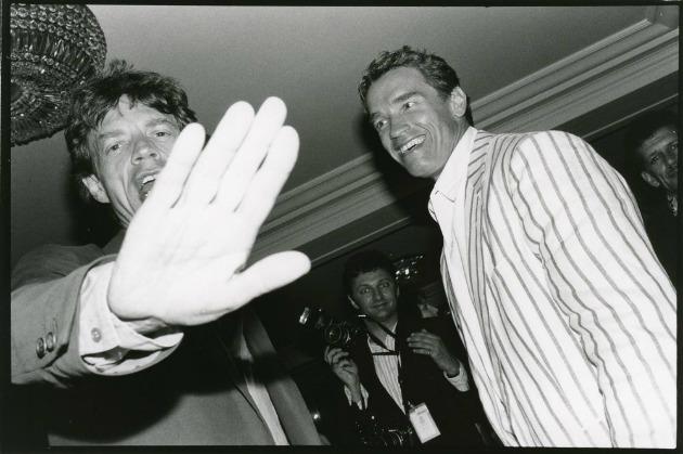 Mick Jagger és Arnold Schwarzenegger (Fotó: centrepompidou-metz.fr)