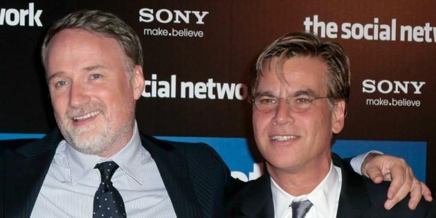 David Fincher és Aaron Sorkin (Fotó: efabula.com)