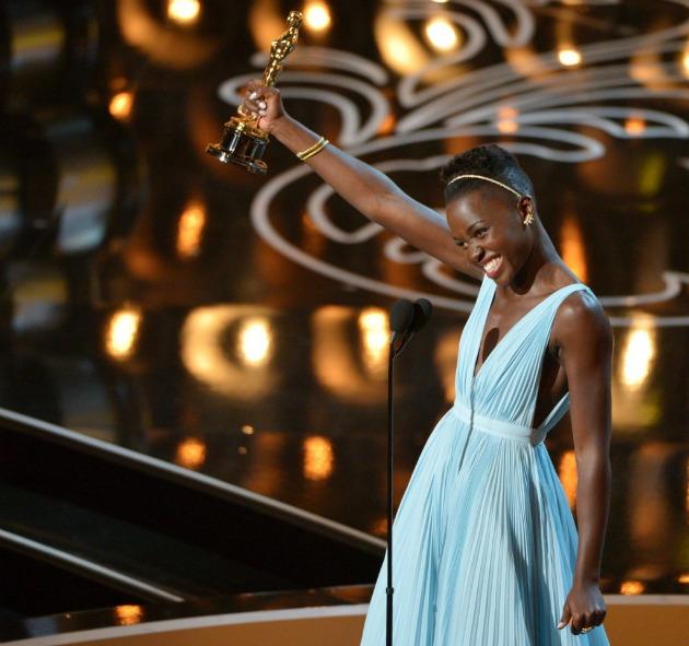 Lupita Nyong'o kenyai színésznő (Fotó: MTI/AP/Invision/John Shearer)