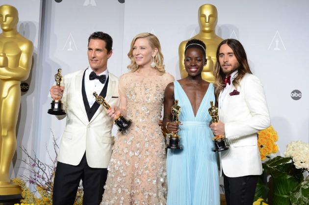 Matthew McConaughey, Cate Blanchett, Lupita Nyong'o és Jared Leto (Fotó: MTI/AP/Invision/Jordan Strauss)