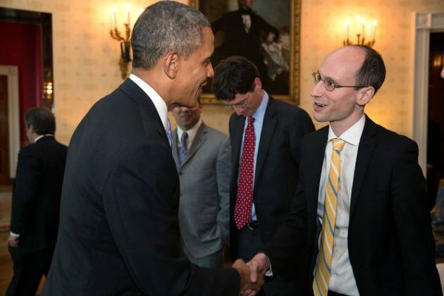 Árvai Péter találkozója Barack Obamával (Forrás: Faix Csaba/Origo)