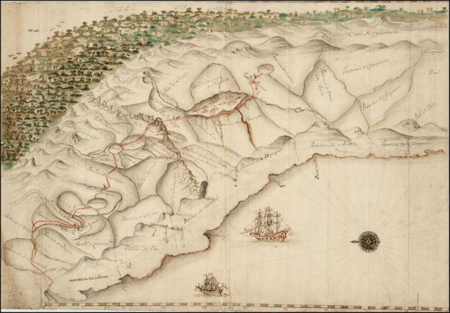 illusztrció (spanyol térkép a 16.századból)