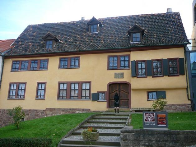 A kiállításnak otthont adó Bach Ház Eisenachban