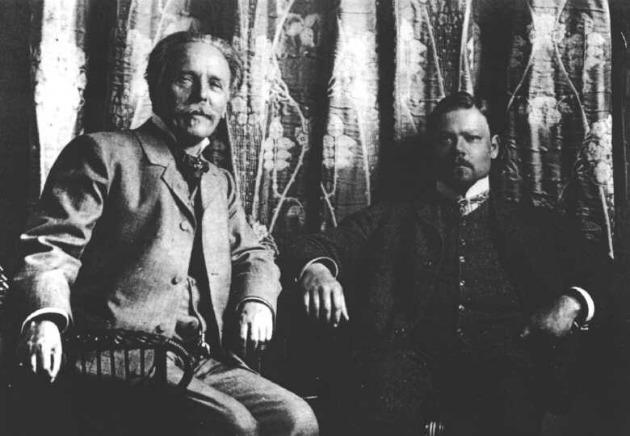 Karl May és Sascha Schneider német festő-szobrász 1904-ben