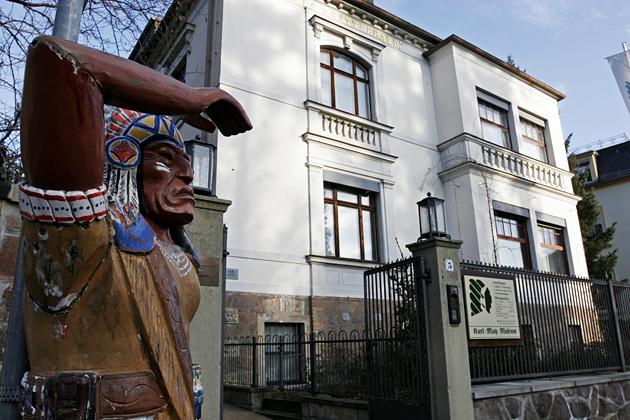 A Karl May Múzeum bejárata Radebeulban